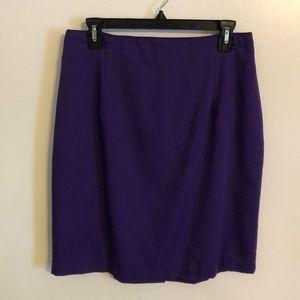 Forenzo Purple Pencil Skirt